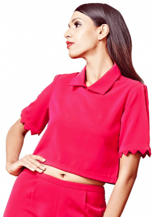 Zig Zag Pink top - StyleCracker