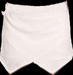 White Asymetric Skort - StyleCracker