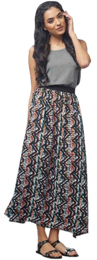Abstract Print Maxi Dress - StyleCracker