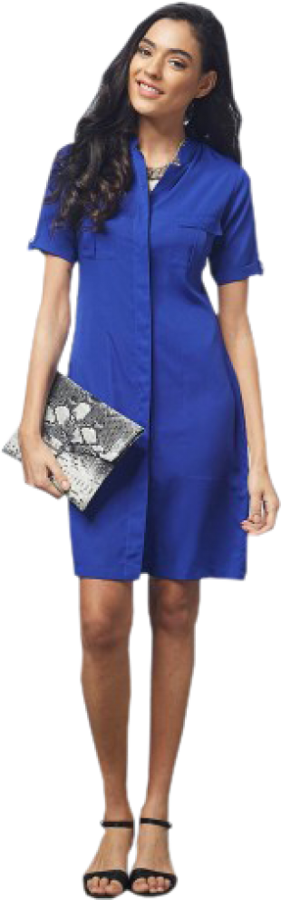 Cobalt Shirt Dress - StyleCracker