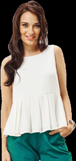 White Peplun Top - StyleCracker
