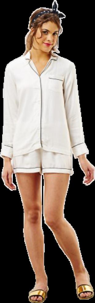 White Cotton Sleep Set - StyleCracker