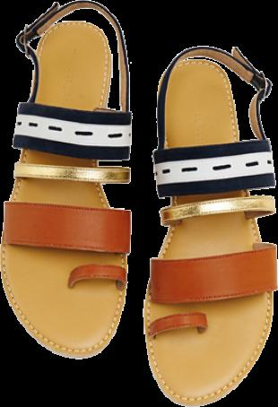 Neutral Strappy Flats - StyleCracker