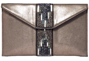 Silver Beaded Clutches - StyleCracker