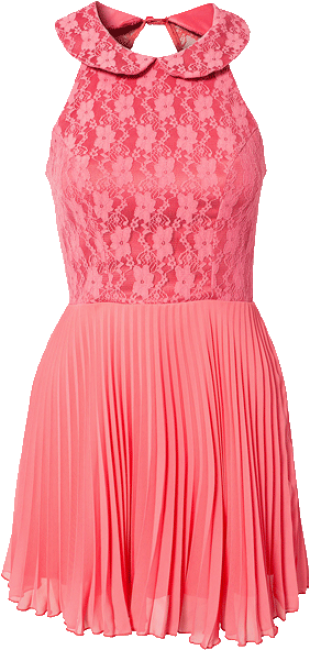 pink pleated dress - StyleCracker