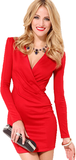 Red Slim Bodycon Dress - StyleCracker
