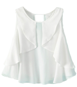 White Ruffle Blouse - StyleCracker