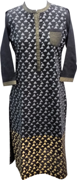 Black Printed Kurta - StyleCracker