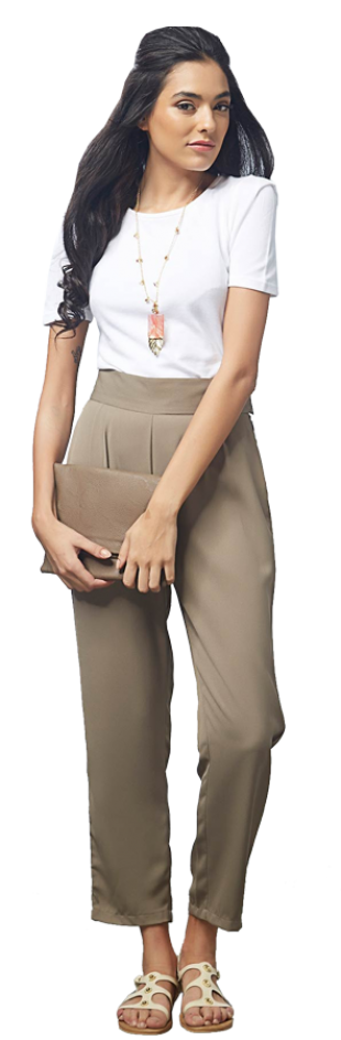 TAUPE PLEATED PANTS - StyleCracker