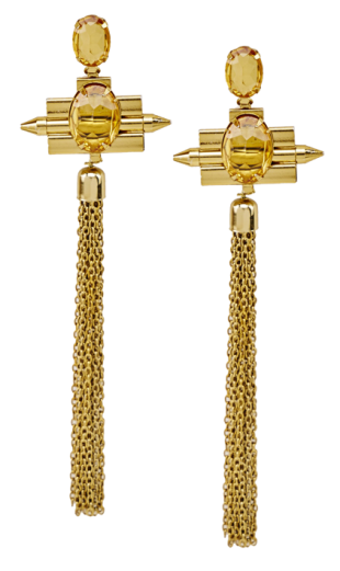 AMBER FRINGE EARRINGS - StyleCracker