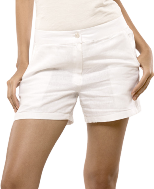 Summer White Linen Shorts - StyleCracker
