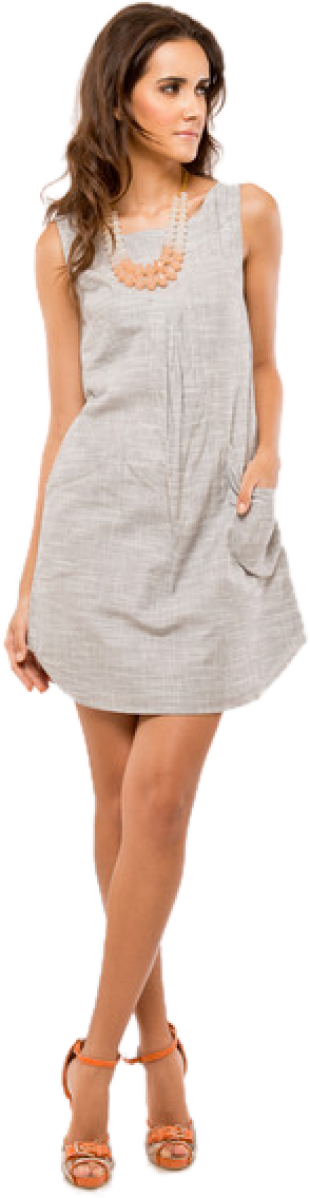 Grey Dress Tunic - StyleCracker