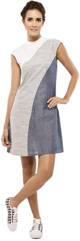 Diagonal Sheath Dress - StyleCracker