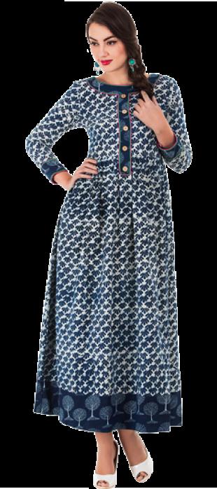 Printed Gathered Maxi Dress - StyleCracker