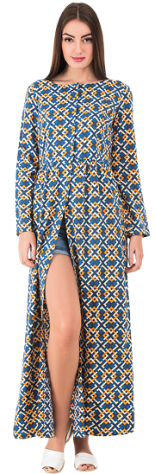 Printed Cape Top - StyleCracker