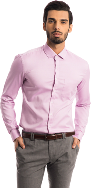 The Merchant: Lilac Ice Pinpoint Oxford Shirt - StyleCracker