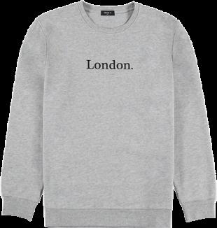 London Graphic Heathered Sweatshirt - StyleCracker