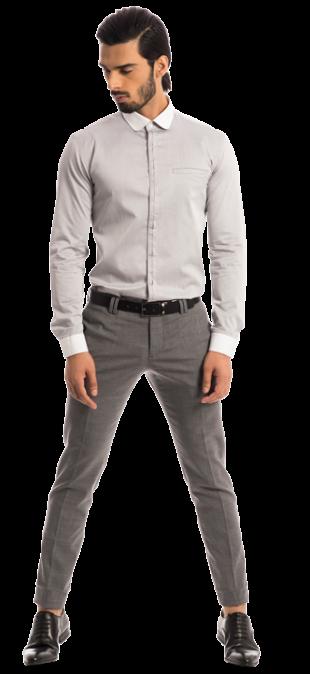 The Gent: Sterling Grey Twill Shirt - StyleCracker