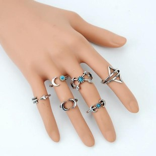 Turkish Silver Mid Finger Rings - StyleCracker