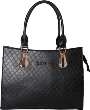 Black Self Weave Handbag - StyleCracker