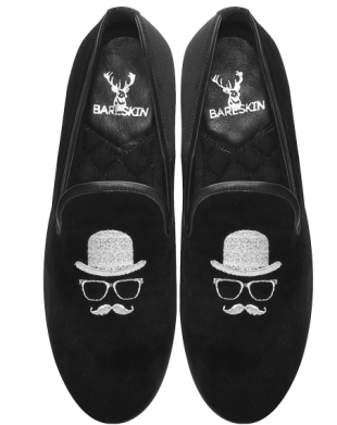 Gentleman Embroidery Slip-On Shoes by Bareskin - StyleCracker