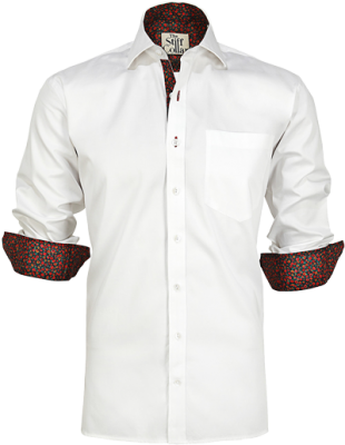 White Cotton Satin Tulip Shirt - StyleCracker