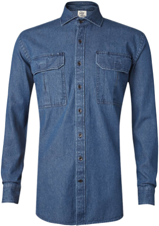 Indigo Blue Denim Outdoor Shirt - StyleCracker