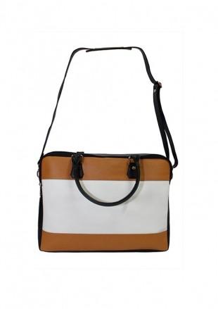 White Biennial Laptop Bag - StyleCracker