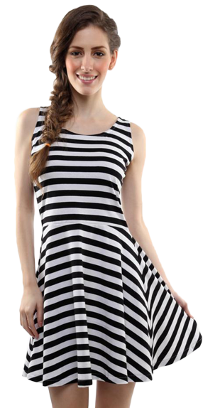 All About The Stripes Skater Dress - StyleCracker