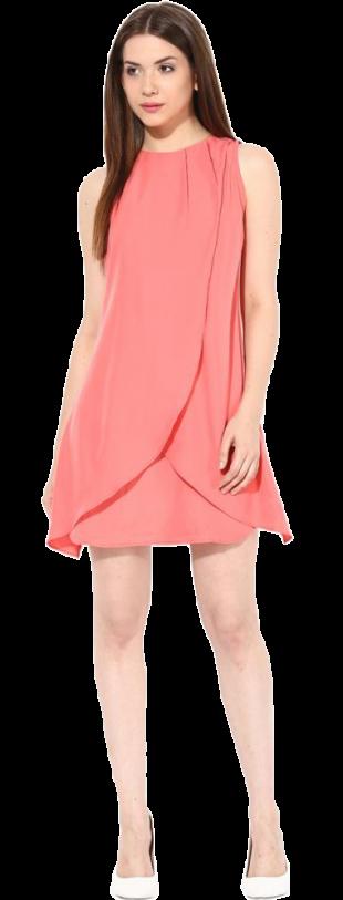 Tulip Wrap A-Line Dress - StyleCracker