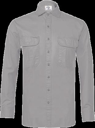 Mountain Grey Outdoor Cotton Twill Shirt - StyleCracker