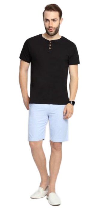 SUITLTD Blue Striped Slim Fit Chino Shorts - StyleCracker