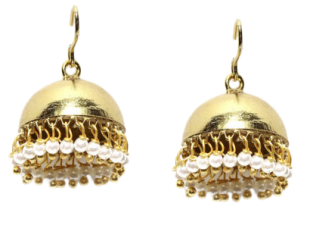 Classic Gold Jhumki Earrings - StyleCracker