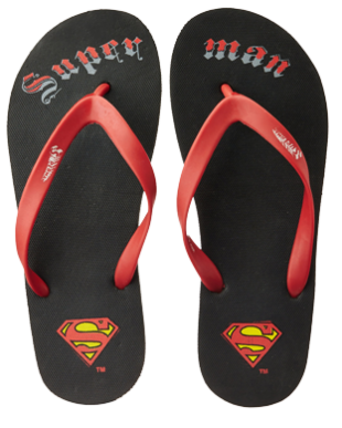Superman Red Flip Flops - StyleCracker