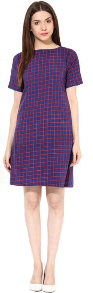 In Check Shift Dress - StyleCracker