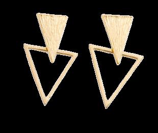 The Triangle In Triangle Earrings - StyleCracker