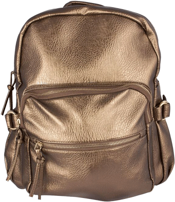 Copper Metallic Backpack - StyleCracker