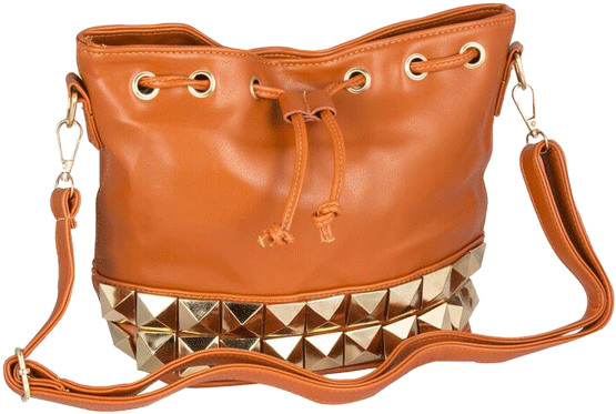 Brown Stud Bag - StyleCracker
