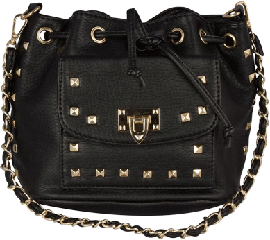 Black stud sling bag - StyleCracker