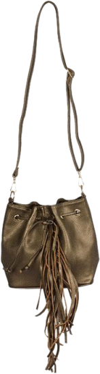 Copper Bucket Fringe Bag - StyleCracker