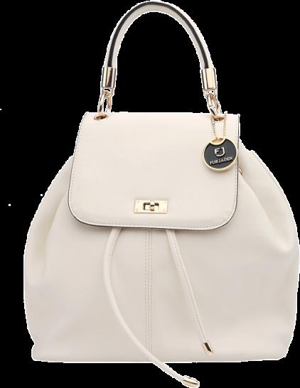 White Flaptop Hoodie Backpack - StyleCracker