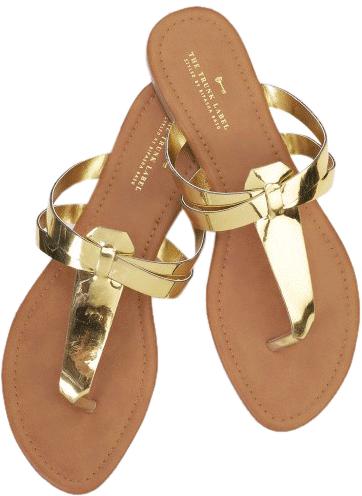 Patent Gold Flats - StyleCracker