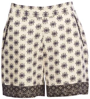 Block Print Slouchy Shorts - StyleCracker