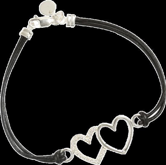 Two Hearts Cord Bracelet - StyleCracker
