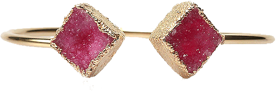 Ravishing Pink Druzy Bangle - StyleCracker