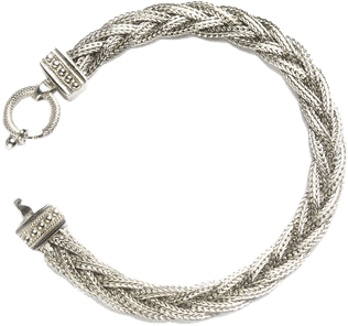 Striking Pleated Chain Bracelet - StyleCracker