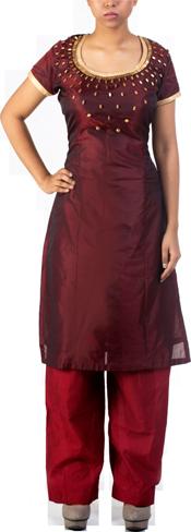 Red Silk Suit - StyleCracker