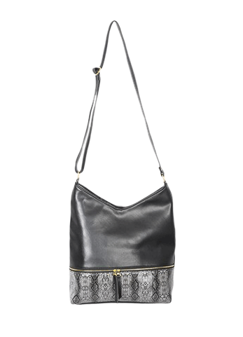 Black Animal Print Tote Sling - StyleCracker