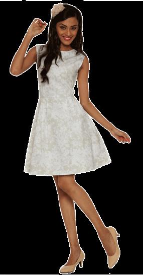 White Floral Print Dress - StyleCracker