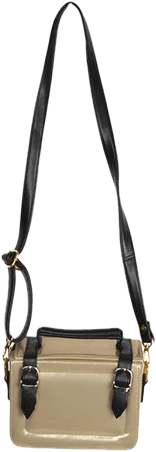 Gold And Black Briefcase Sling - StyleCracker